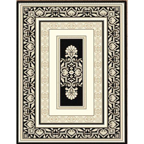Saray Rugs Charisma Black 10899 Traditional Rug Lounge