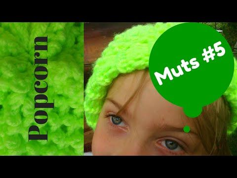 Popcorn-steek, Een nieuw mutsje op de breiring. Popcorn-stitch on a knifty knitter. - YouTube