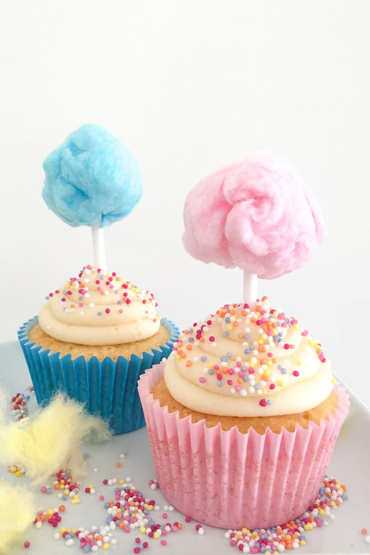 Candy Floss Cupcakes (Cotton Candy Cupcakes)