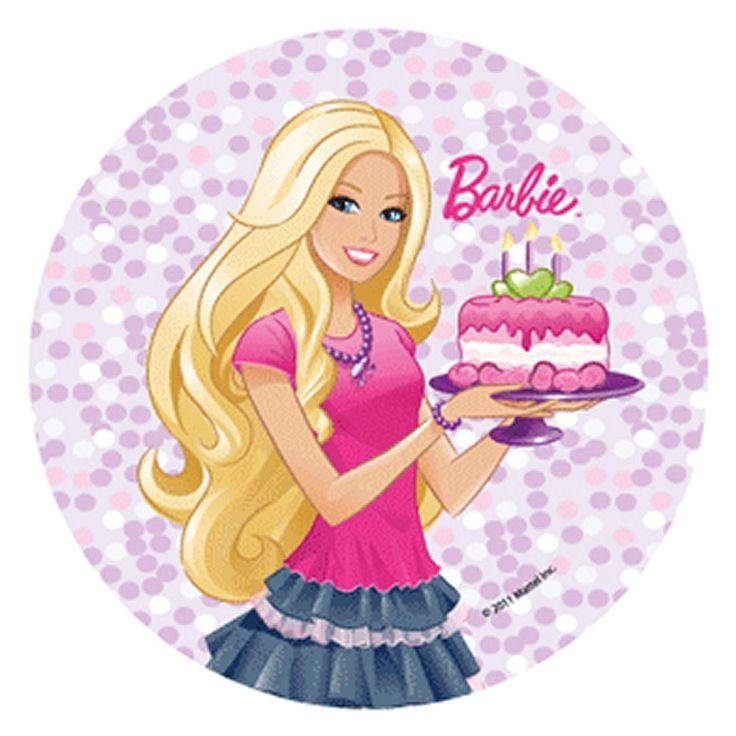 Discos De Azucar Barbie Buscar Con Google Deco