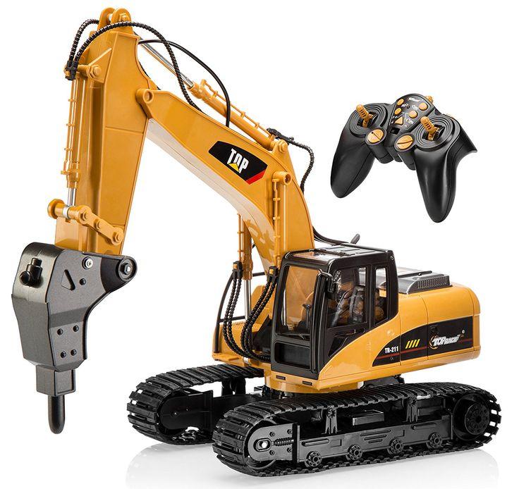 16 Channel Profesional Excavadora RC Control Remoto