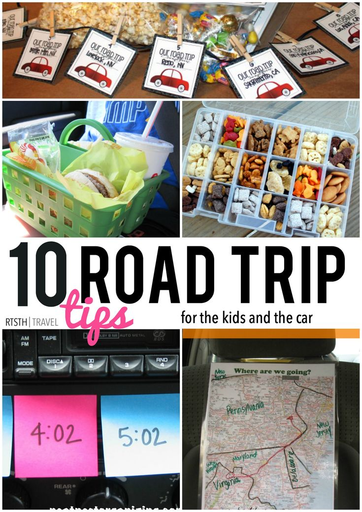 Road Trip Tips for the kids and the car - they'll help with your sanity!