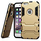 iPhone 6 Case Ovis Shockproof Rugged Hybrid Rubber Hard Cover Case for iPhone 6 4.7  Gold