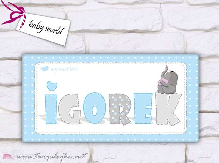 Słonik w błękicie dla Igorka