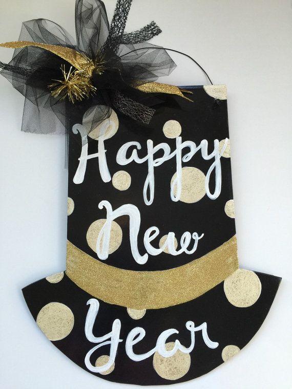 Happy New Year Door Hanger Hat by Shop3Seventeen on Etsy