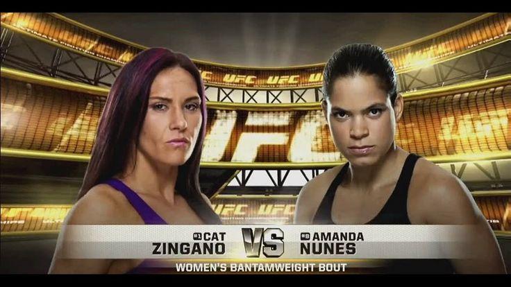 Amanda Nunes  vs Cat Zingano FULL FIGHT - UFC HeaVyweight Championship