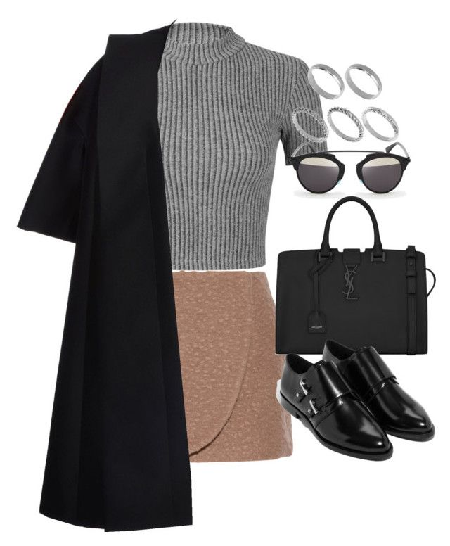 """""""Sem título #1017"""" by oh-its-anna ❤ liked on Polyvore featuring Miss Selfridge, Jill Stuart, CÉLINE, Christian Dior, Yves Saint Laurent and ASOS"""