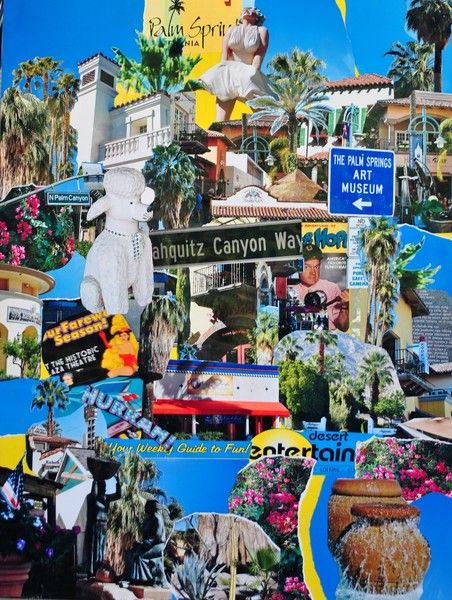 A homage to the wonderful fun city of Palm Springs, full of life and light. Photo-montage done on site! Available in print format through Art Wanted.