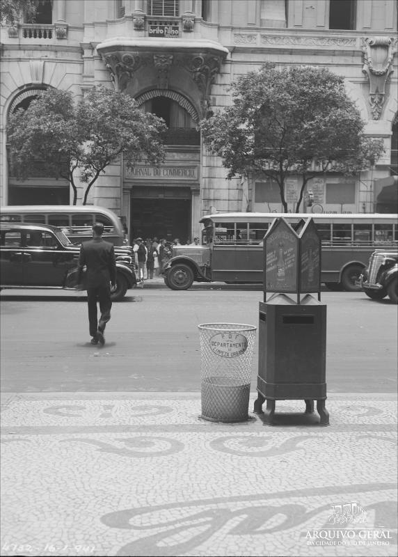 Avenida Rio Branco (Rio de Janeiro, RJ) Jornal do Commercio (Rio de Janeiro, RJ) Departamento de Limpeza Urbana Edifícios - Rio de Janeiro (RJ)