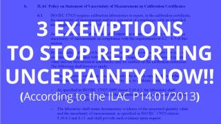 Learn 3 Exemptions to Reporting Measurement Uncertainty on Calibration Reports