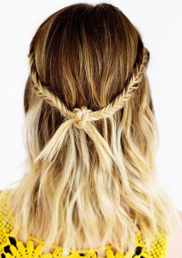 Trenza con nudo #peinados #peinadosverano #trenzas #peinadostrenzas #trenzasnudo
