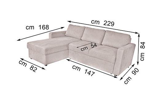 Azor ,Divano angolare con contenitore, divano letto Azor,divano in tessuto con contenitore,esclusivo design divani in pelle