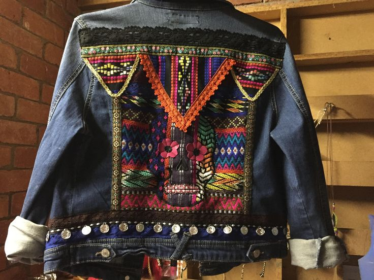 A personal favourite from my Etsy shop https://www.etsy.com/au/listing/529010943/embellished-denim-jacket-bohemian-hippie