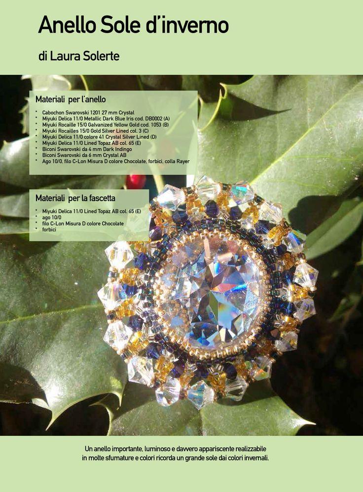 Progetto di Laura Solerte - I Bijoux del Sole - pubblicato sul numero 37 di Fashion Gems