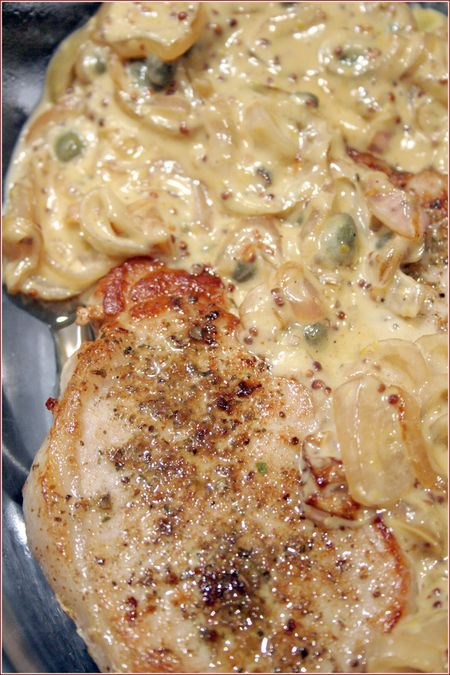 Easy Baked Pork Chops With White Wine-Mustard Sauce Recipe ...