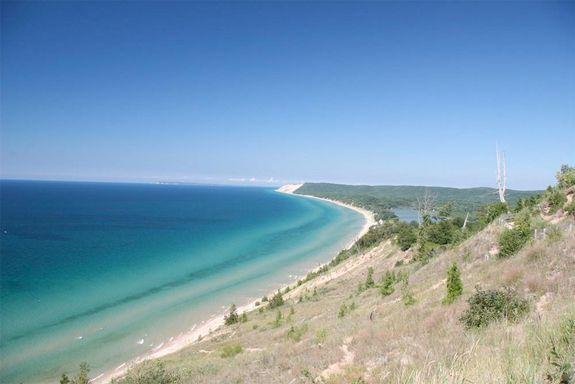 Sleeping Bear Bay on Lake Michigan, named best beach of the Great Lakes