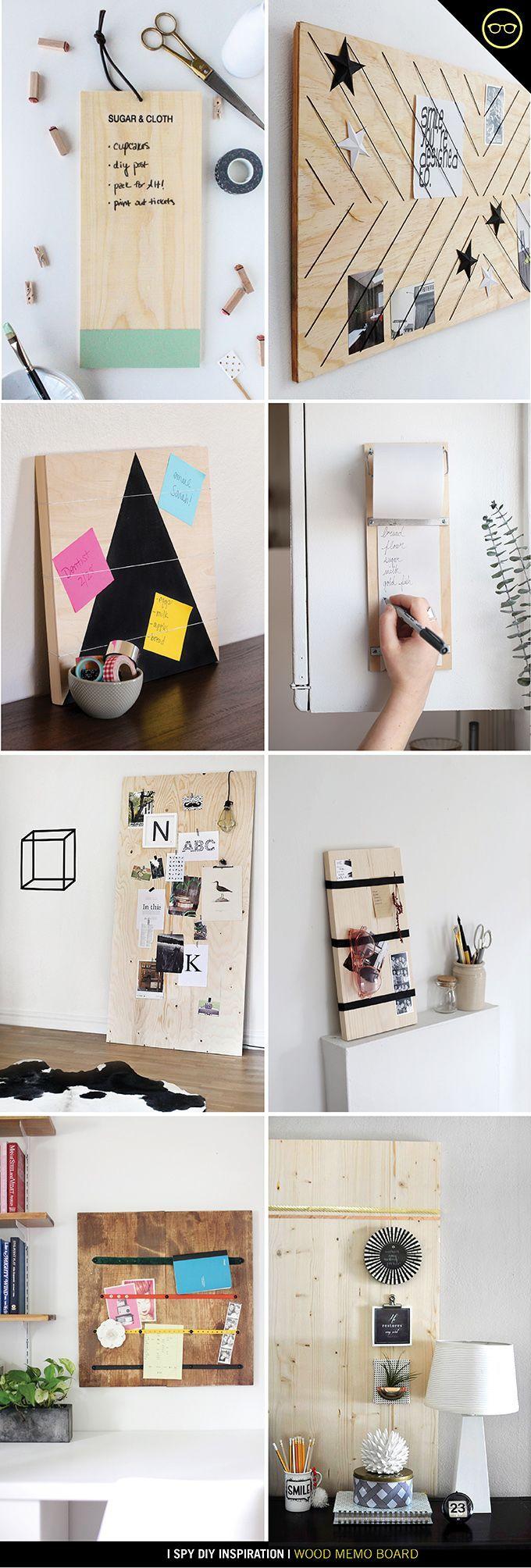 Planche mémo en bois / Wood memo board