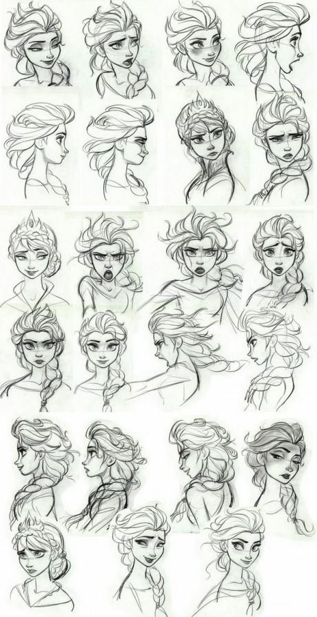 Scribble Drawing Style : Frozen concept art elsa s facial expressions pinterest film making and i love