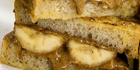 Grilled Almond Butter & Banana Sandwiches
