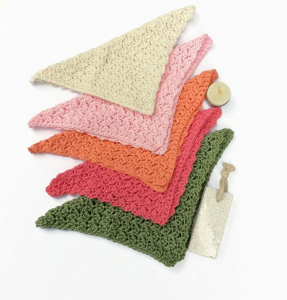 Washcloths 5 spa cloths face washers  bath and beauty by TigsTogs