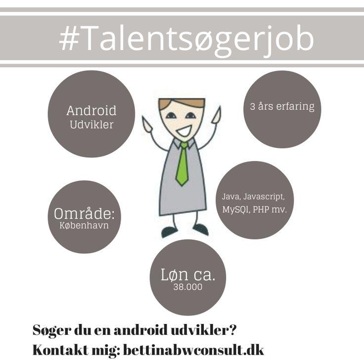 Android Udvikler søger nyt job - tjek ham ud og kontakt mig for at se CV... #talentsøgerjob #rekruttering #bettinawaede