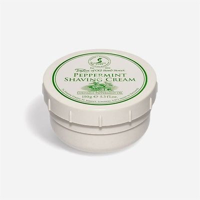 PEPPERMINT SHAVING CREAM TAYLOR OLD BOND STREET CREMA DA BARBA ALLA MENTA TAYLOR