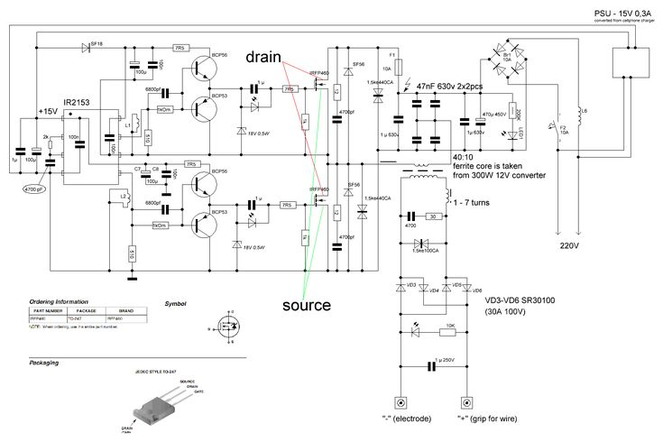 inverter arc welder circuit diagram