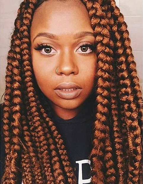 Enjoyable 1000 Ideas About Jumbo Box Braids On Pinterest Box Braids Short Hairstyles For Black Women Fulllsitofus