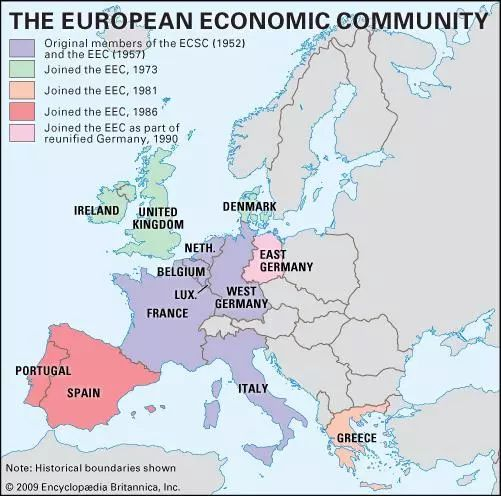 European Economic Community [Credit: Encyclopædia Britannica, Inc.]