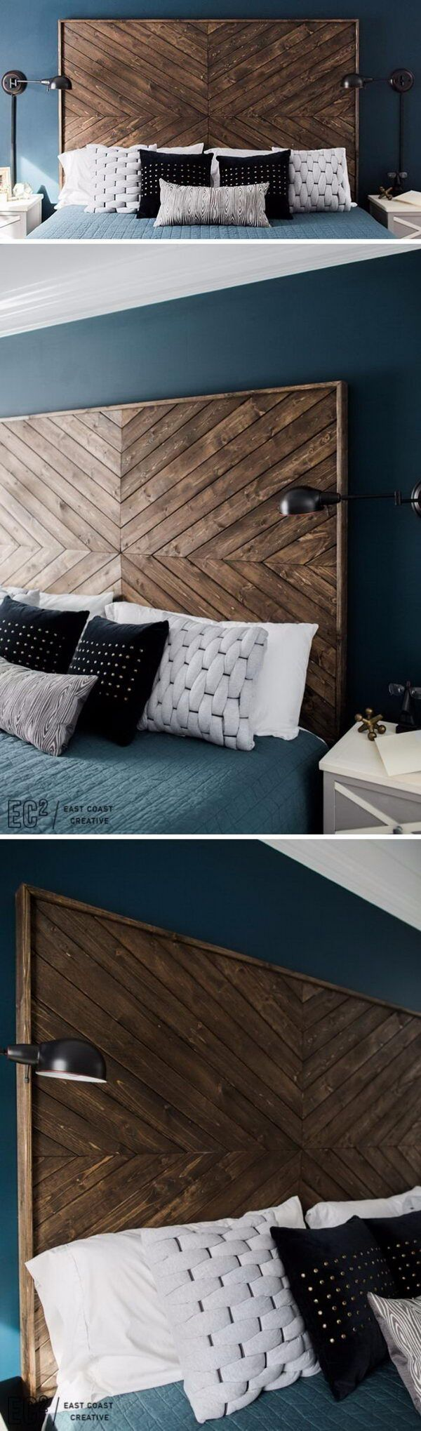 Best 25+ Rustic wood headboard ideas on Pinterest | Headboard ...