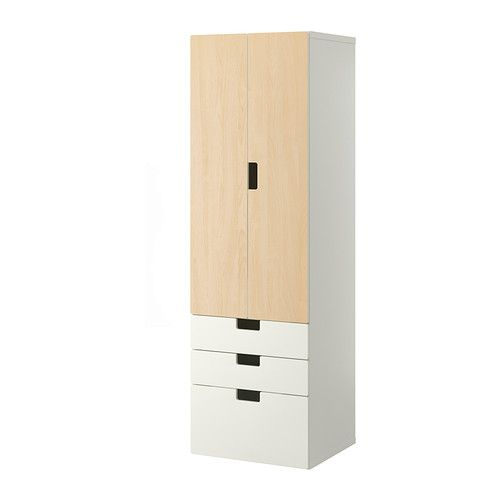 STUVA Storage combination w doors/drawers - white/birch - IKEA