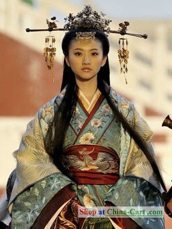 Ancient Chinese Princess Clothing and Headpiece-Sans headpiece, what the Kunlun ambassador to the Ljosalfar palace's dress would look like..