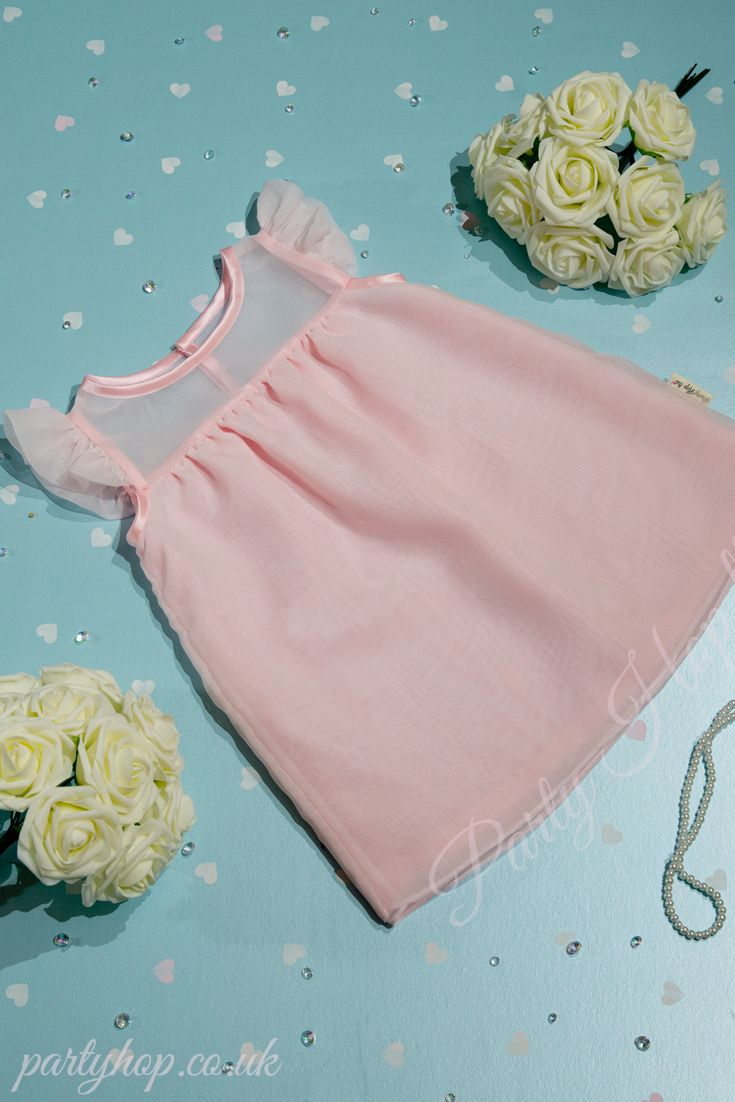 """""""What started with a secret wish and a tiny sprinkle of pixie dust, ended in a magical day filled with unforgettable moments.""""  A graceful little dress that is """"Made to Order"""" in layers of soft and floaty Baby Pink Chiffon. This playful little dress features a  sheer yoke and delicate gathered sleeve and finishes off above the knee.  A Fairy Godmother approved dress perfect for flower girls, bridesmaids, parties and any special occasions requiring a Princess and unforgettable moments."""
