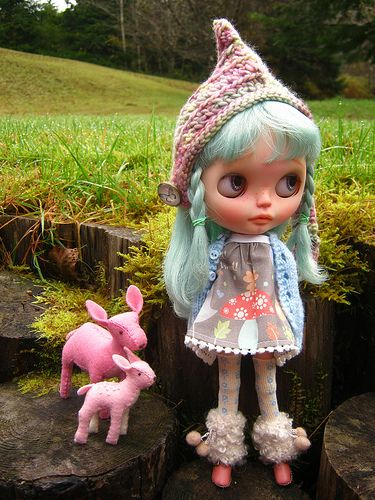 IMG_0469...Opal is happy it is not raining today so she can play with her little pink friends outside. | by Lindy Dolldreams