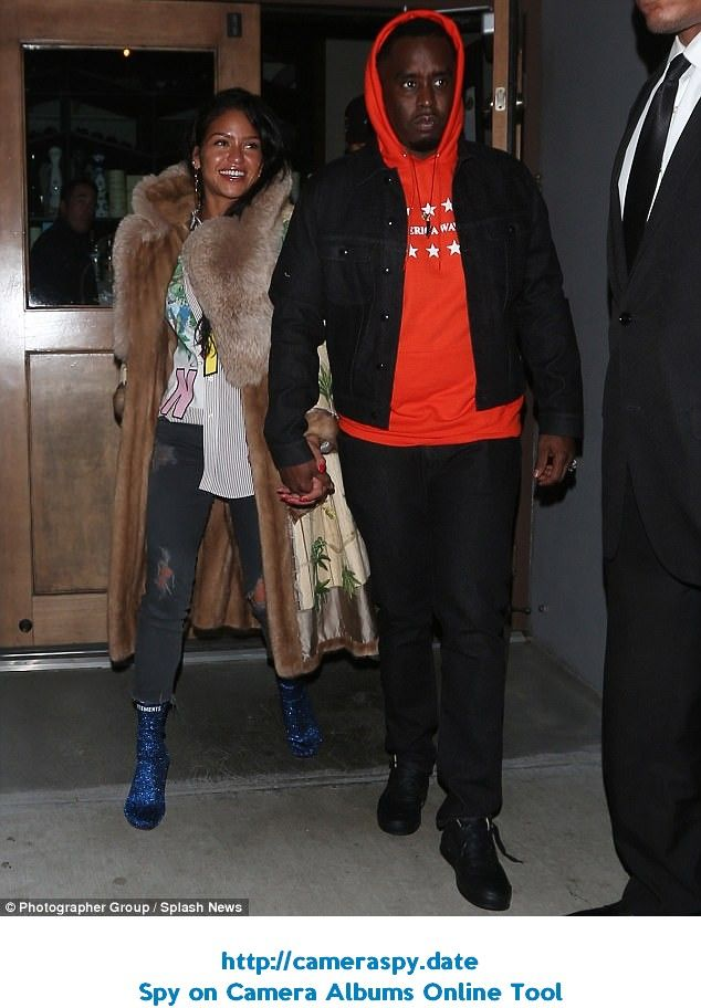 844cb995bd9 Date night: On Sunday, Sean P. Diddy Combs, 48, and girlfriend Cassie  Ventura, 31, walke.