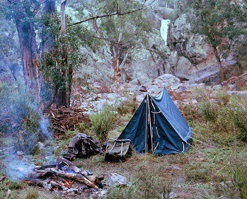 camp site for one.