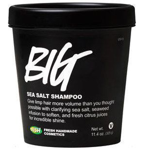 Lush Big Sea Salt Shampoo, which will basically give you mermaid hair.