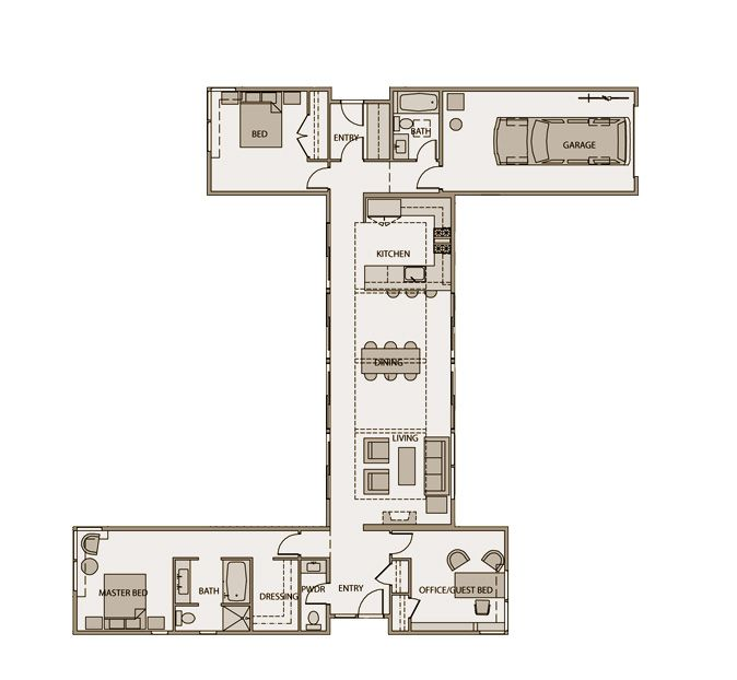 Floorplan sd132 stillwater dwellings shipping for Shipping container garage floor plan