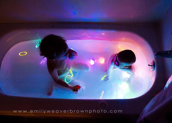 bath tub glow party
