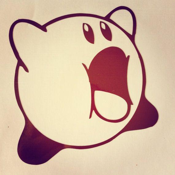 Kirby Game Vinyl Decal Sticker by Usagineer on Etsy Visit us @ Usagineer.com #Macbook #Stickers #Vinyl #Decal #Usagineer #Kirby