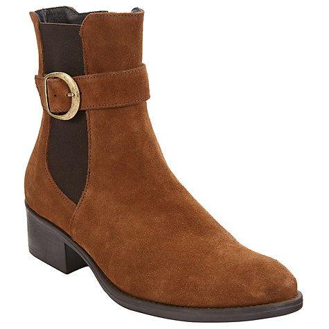 Buy John Lewis Tulsa Block Heel Ankle Boots, Tobacco Suede Online at johnlewis.com