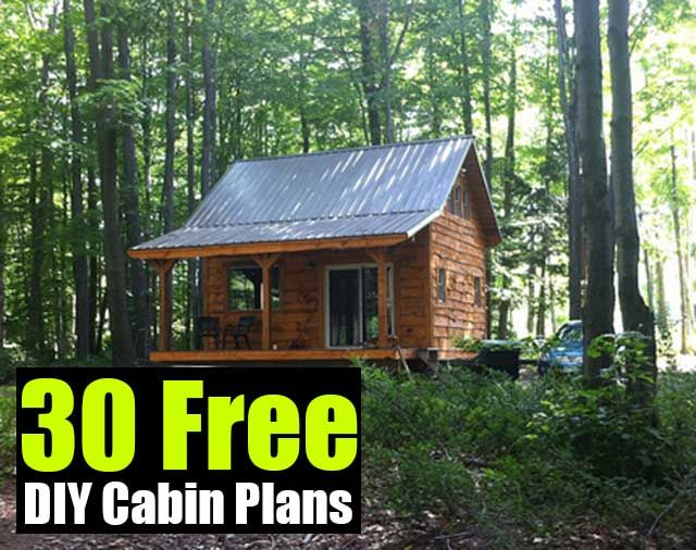 30 Free DIY Cabin Plans - SHTF, Emergency Preparedness, Survival Prepping, Homesteading (Would have linked to true source, but that page doesn't allow pinning. Click through link on this source)