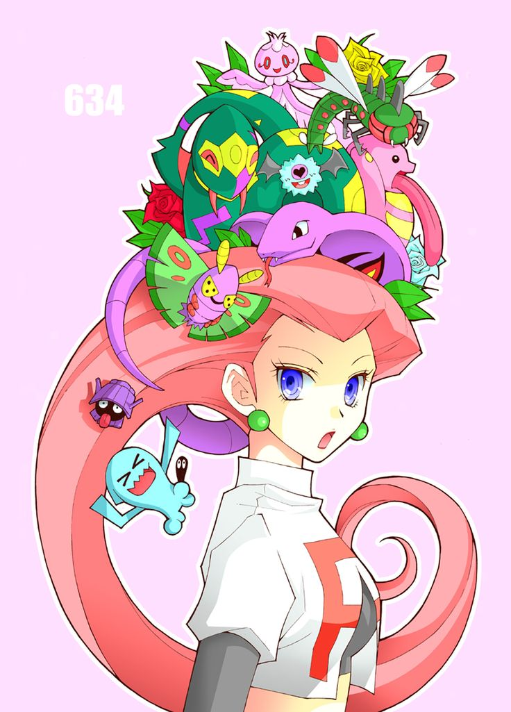 jessie's pokemon: that's why her hair is so big, it's full of pokemon.