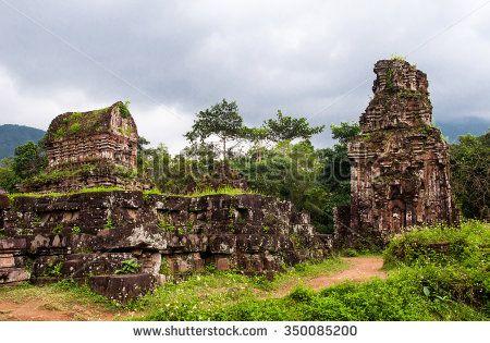My Son hindu  temple ruins, Vietnam, Unesco Heritage in Vietnam - stock photo
