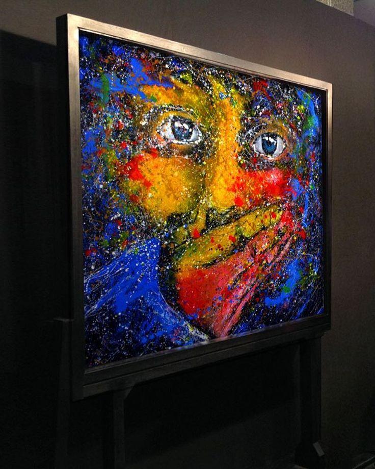 """""""melancholy series...   Gencin Hüznü (2012) oil canvas 140x130"""""""