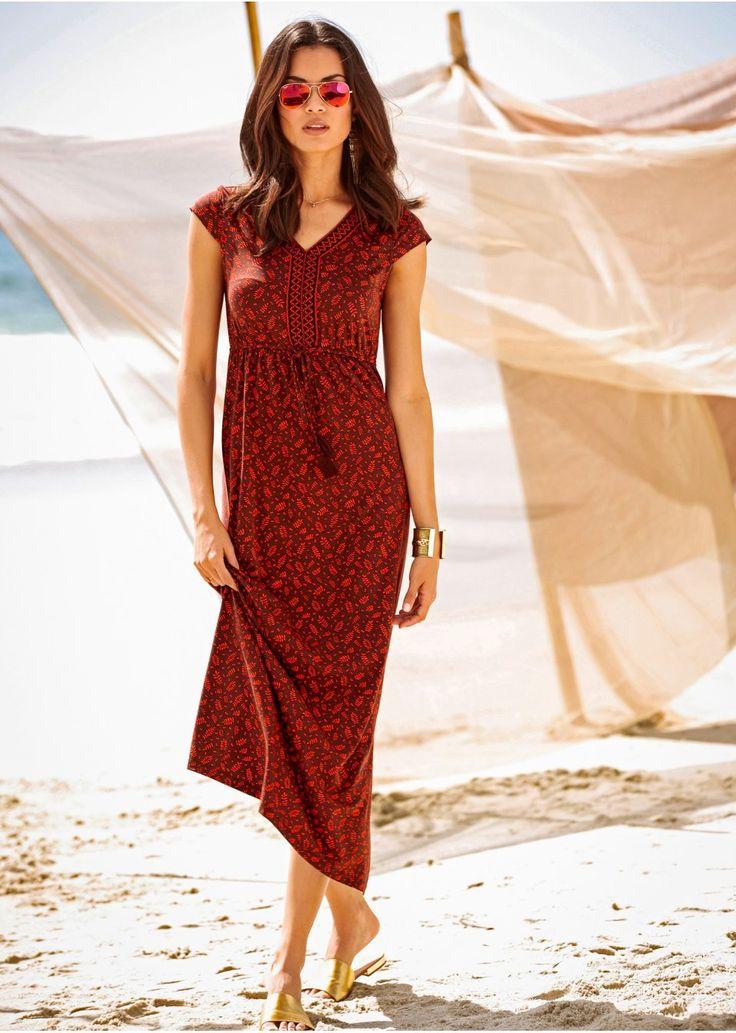 Długa sukienka z nadrukiem Długa • 109.99 zł • bonprix