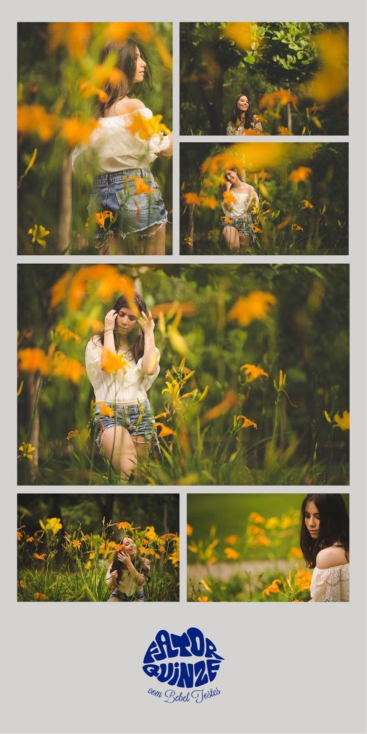 15 anos - fotografia de 15 anos - fotos de 15 anos - 15th birthday - flores laranjas #15anos #fotografiade15anos
