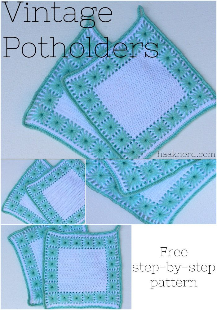 Vintage Potholders | Haaknerd. Free photo tutorial crochet pattern