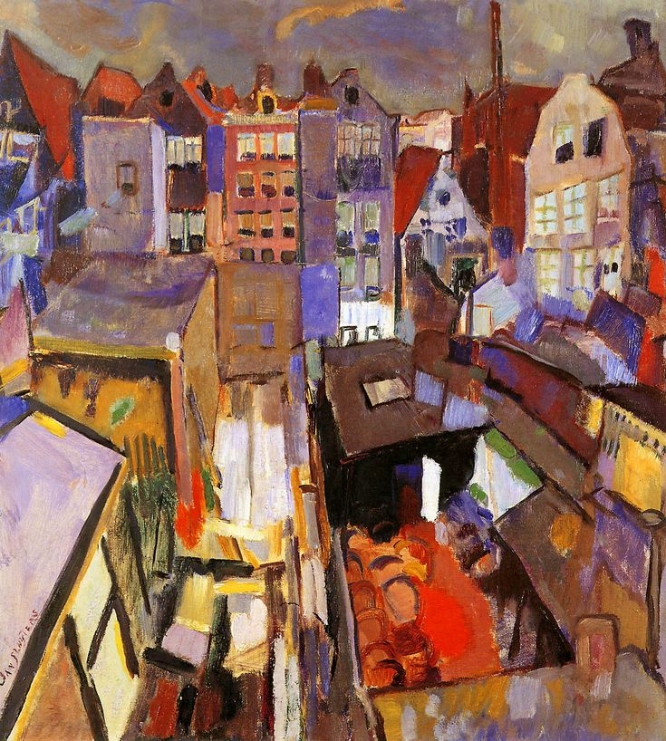 Houses in the Jourdann. Jan Sluijters was a Dutch painter. Sluijters was a leading pioneer of various post-impressionist movements in the Netherlands