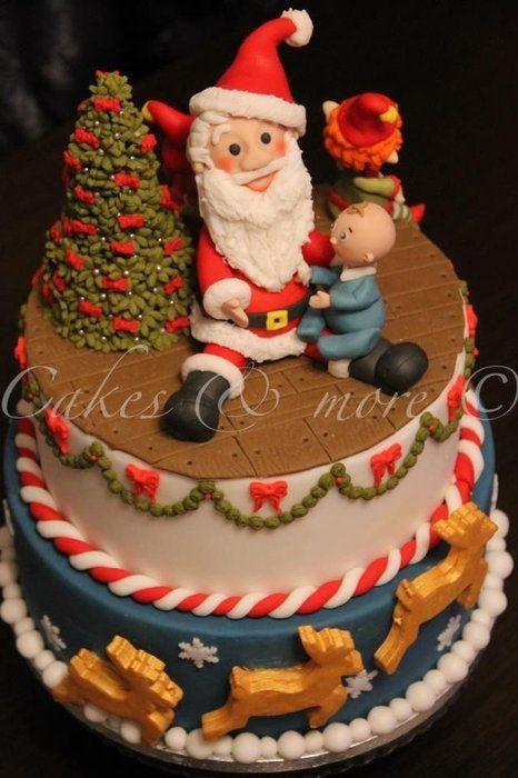 Christmas cake - by cakesandmore @ CakesDecor.com - cake decorating website